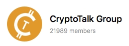 CryptoTalk Telegram Group Logo - Crypto Communities