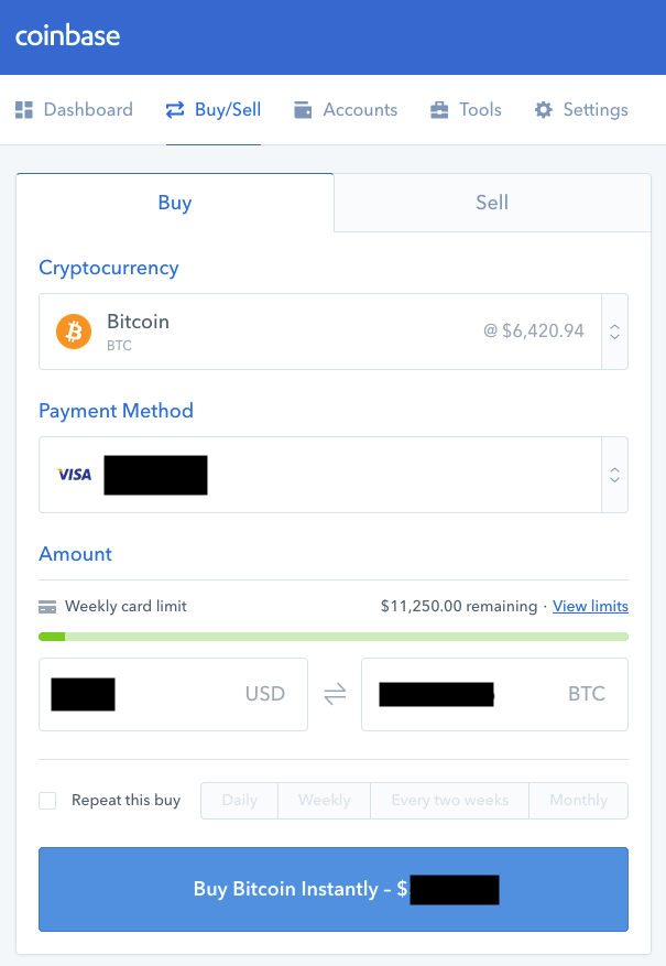 How To Buy BitShares BTS With A Debit Card and Bank Account Screenshot