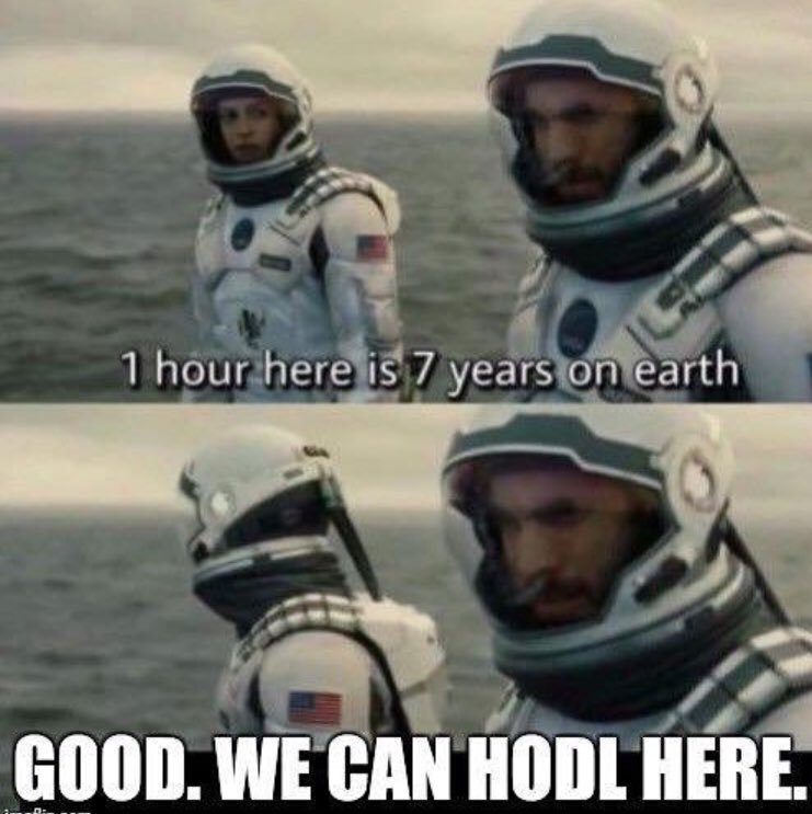1 Hour Here Is 7 Years On Earth - Crypto Memes