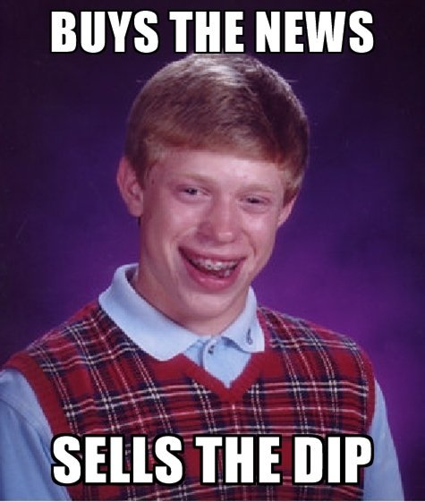 Buys The News Sells The Dip - Crypto Memes