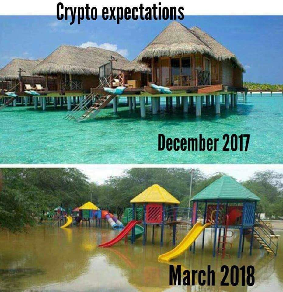 Crypto Expectations December 2017 vs March 2018 - Crypto Memes