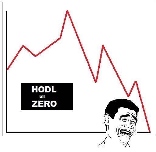 HODL Till Zero - Crypto Memes