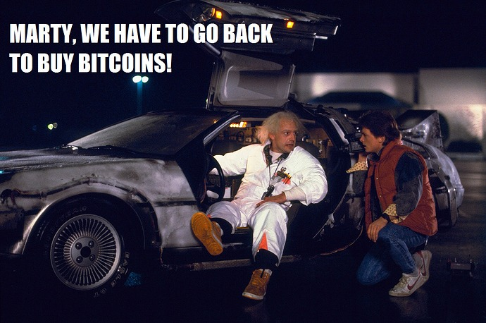 Marty We Have To Go Back To Buy Bitcoins - Crypto Memes