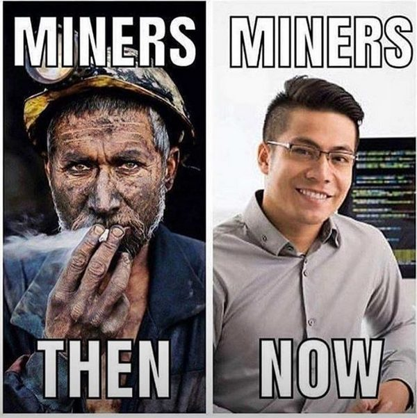 Miners Then vs Miners Now - Crypto Memes