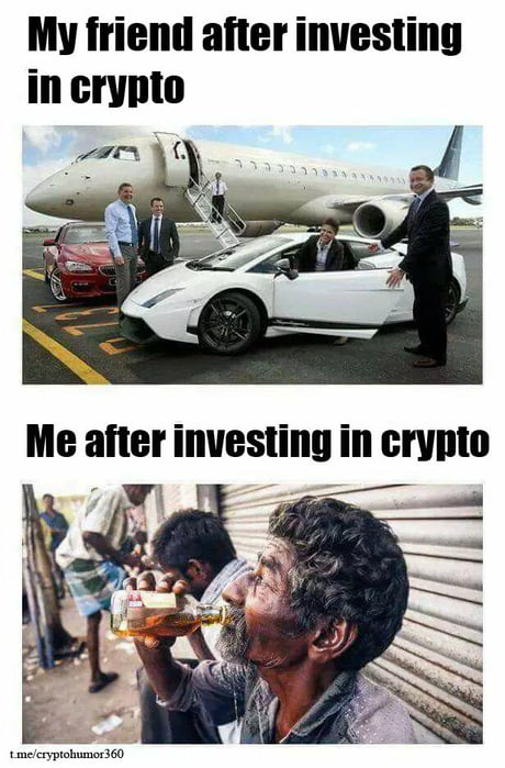 My Friend After Investing In Crypto vs Me After Investing In Crypto - Crypto Memes