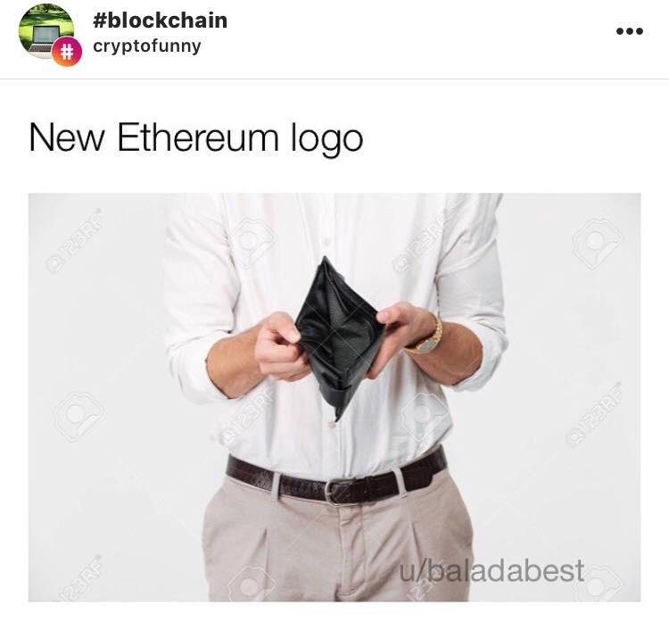 New Ethereum Logo - Crypto Memes