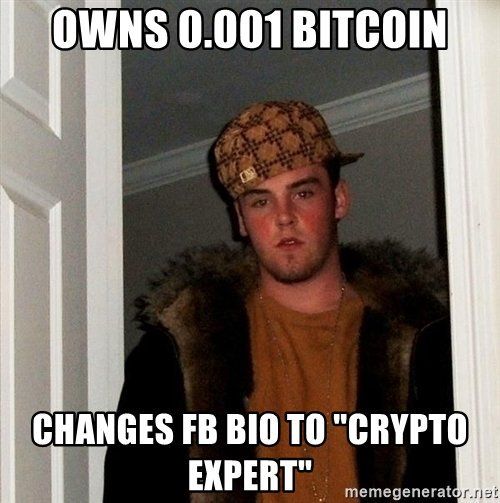 Owns Bitcoin Changes FB Bio To Crypto Expert - Crypto Memes