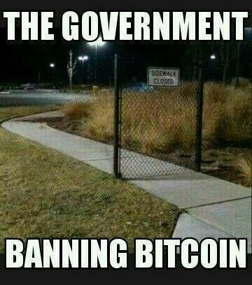 The Government Banning Bitcoin - Crypto Memes