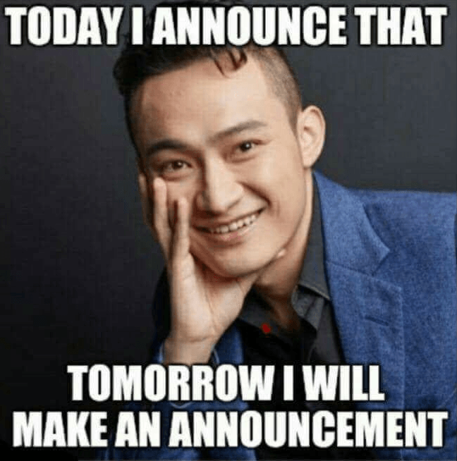 Today I Announce That Tomorrow I Will Make An Announcement- Crypto Memes