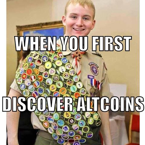 When You First Discover Altcoins - Crypto Memes
