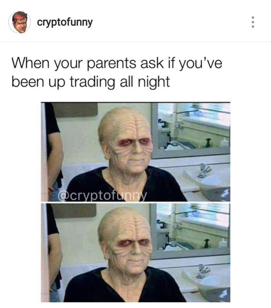 When Your Parents Ask If Youve Been Up Trading All Night - Crypto Memes