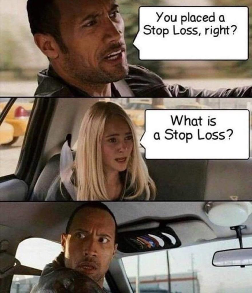 You Placed A Stop Loss Right - Crypto Memes