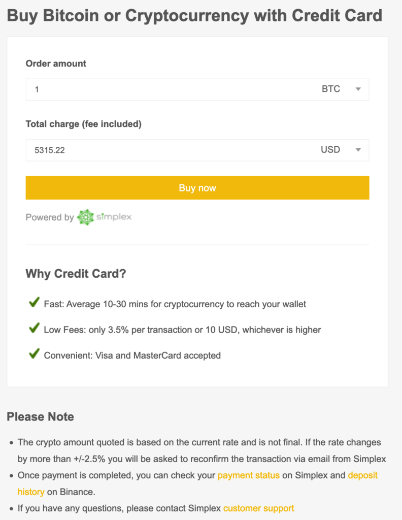 Buy Bitcoin With A Credit Card On Binance 1