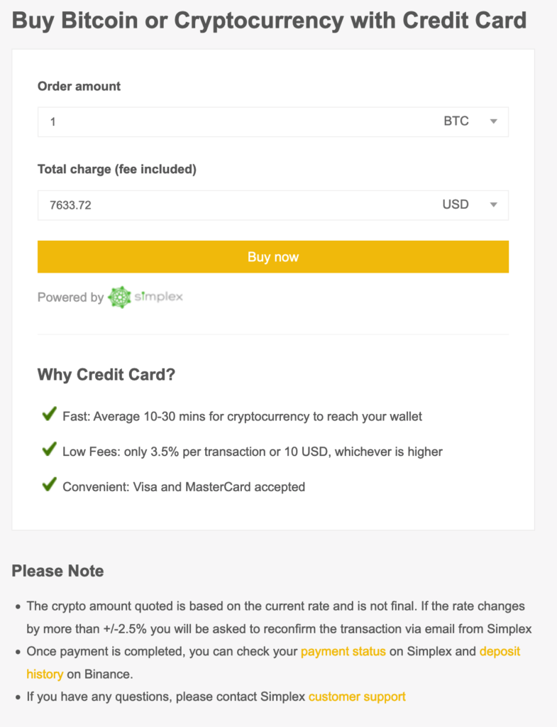 Buy Bitcoin With A Credit Card On Binance 2