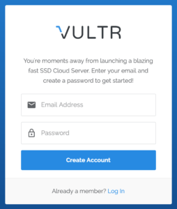 Vultr Screenshot 1 AURA Staking Node